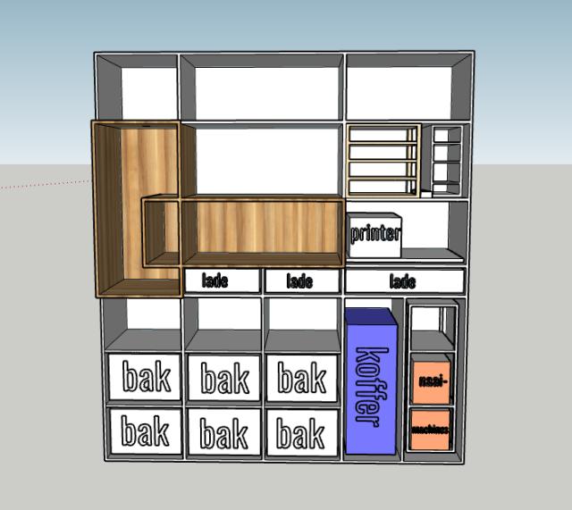 woonkamer kast ontwerp binnenkant
