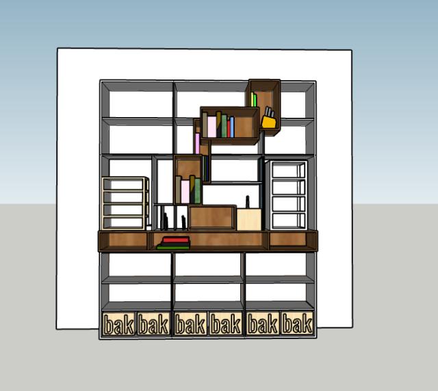 schets interieur/indeling van eetkamer kast op maat in Haarlem